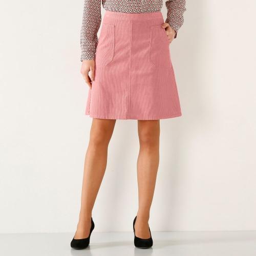 Blancheporte Menčestrová rozšírená sukňa sivoružová