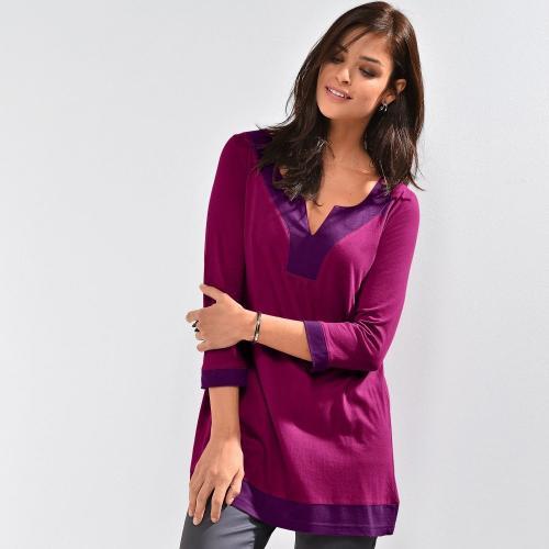 Blancheporte Dvojfarebná tunika purpurová
