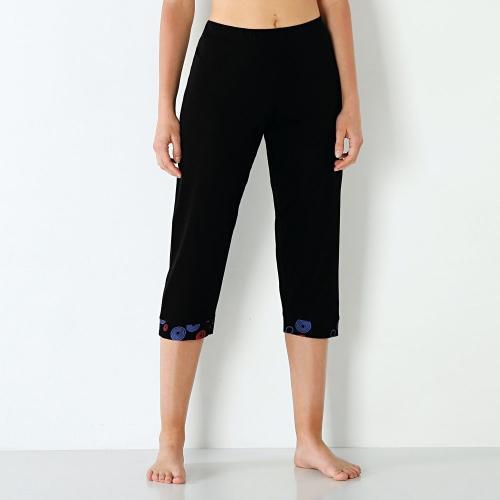 Blancheporte 3/4 pyžamové nohavice jednofarebné alebo s potlačou čierna