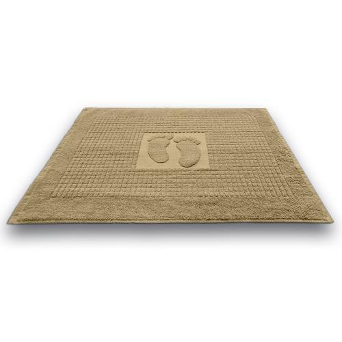 Kúpeľňová predložka Stopa béžová 50x70 cm, 650 g/m2 bavlna
