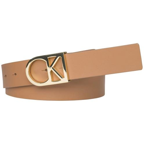 Calvin Klein hnedý opasok CK Logo Belt 230