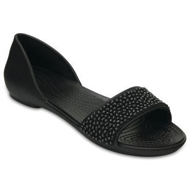 Crocs čierne sandále Lina Embellished Dorsay Black