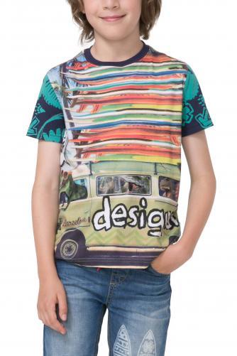 Desigual farebné chlapčenské tričko Ringo