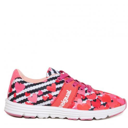 fce554a716377 Desigual farebné dievčenské tenisky Step Trazos