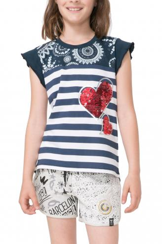 Desigual dievčenské námornícke tričko Tacoma
