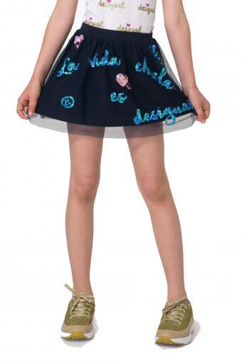 d75d0375831f Desigual modrá dievčenská sukňa Puigdalber