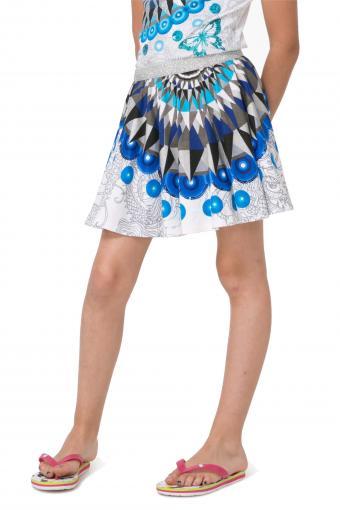 30138ae2672c Desigual modro-biela dievčenská sukňa Rami