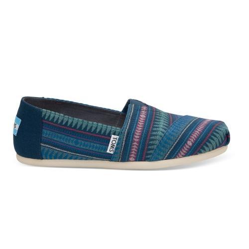 Toms modré topánky Cobalt Tribal Woven