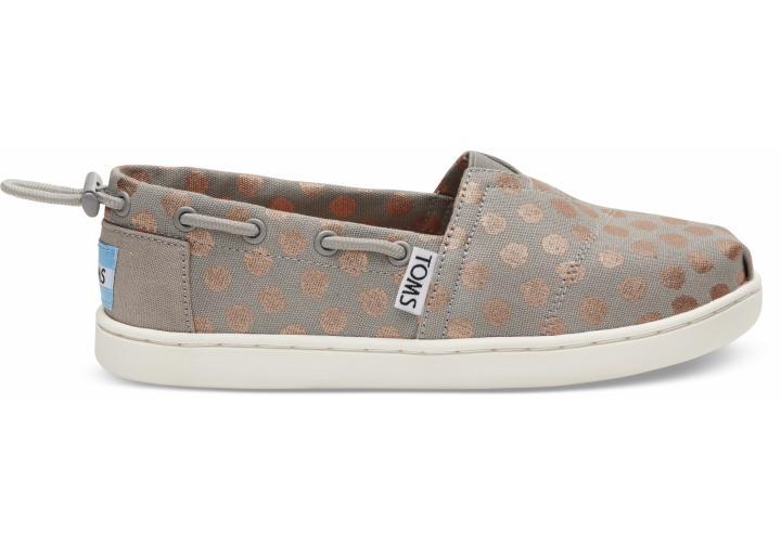 e32b3c09608f Toms sivé detské topánky s bodkami Bimini Drizzle Grey   Rose