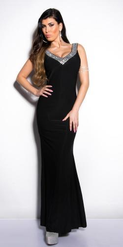 ec2f202a2d41 Čierne plesové šaty Koucla in-sat1032bl