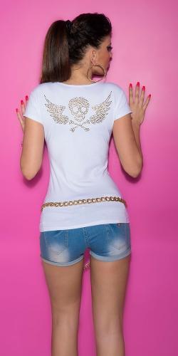 Bílé dívčí triko Koucla in-tr1113wh