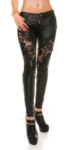 Sexy čierne nohavice s čipkou Koucla in-ka1050