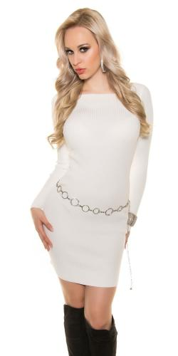 5d90ebc38cb8 Úpletové dámske šaty Koucla in-sv1352wh