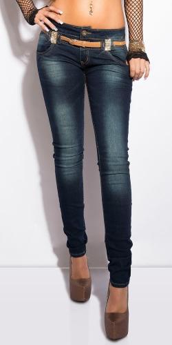 Dámske džínsy s opaskom Koucla in-ri1027