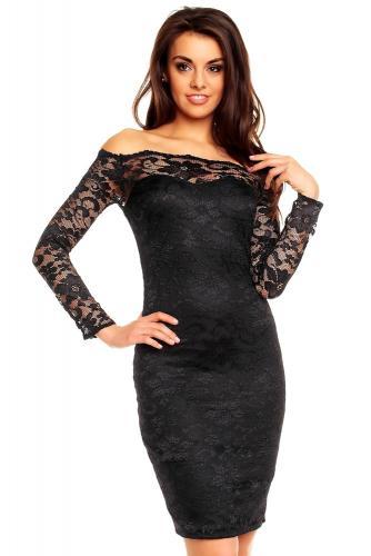 7c41ee0dc0a7 Večerné šaty - čierne Mayaadi hs-sa367bl