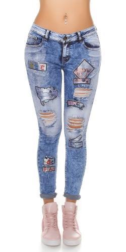 423540032000 Dámske džínsy s nášivkami Koucla in-ri1418