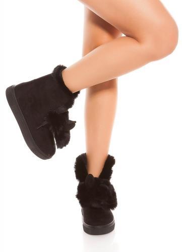 Zimné členkové topánky Koucla in-ob1042bl