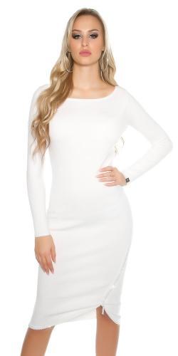 Pletené dámské šaty - II. jakost Koucla in-sat1425wh-v