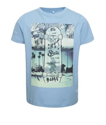 dbbf6e2146d9 Modré chlapčenské tričko s farebnou potlačou name it Dim
