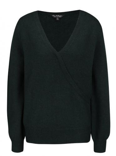 3ecb31077ee9 Petrolejový sveter s prekladaným výstrihom Miss Selfridge