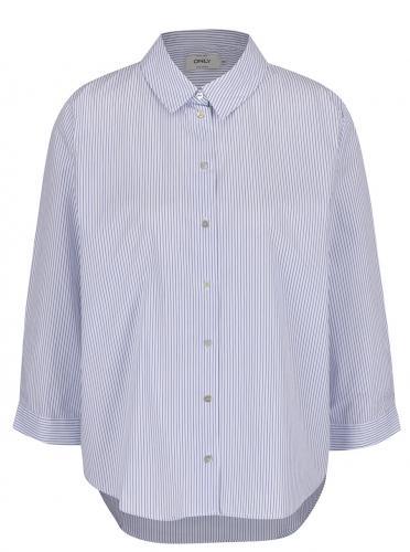 Krémová košeľa s pruhmi ONLY Simey