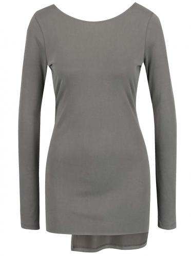 Sivý top s odhaleným chrbtom Miss Selfridge