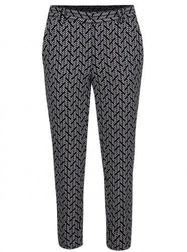 Krémovo-čierne skrátené vzorované nohavice Dorothy Perkins