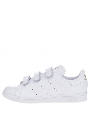 7d405acb57699 Biele dámske kožené tenisky s detailmi adidas Originals Stan Smith