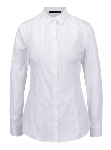 d94cc878025a Biela dámska košeľa s dlhým rukávom Pietro Filipi