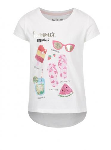 31f1db4114fd Krémové dievčenské tričko s letným motívom 5.10.15.