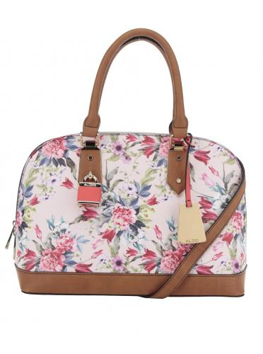 Ružová kvetovaná dámska kabelka ALDO Yilari