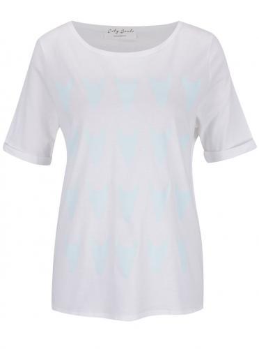"04be7839dab90 ""Dobré"" dámske modro-biele tričko City Souls by Elajediova"