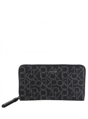 a3720718f6 Čierna vzorovaná dámska peňaženka Calvin Klein Jeans Tina