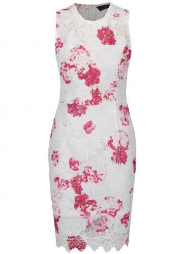Biele čipkované kvetované šaty AX Paris