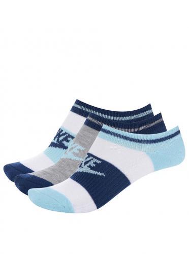 9a9d3f441877e Súprava troch párov členkových ponožiek v modrej a bielej farbe Nike No Show
