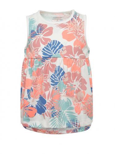 Bielo-ružové dievčenské kvetované šaty name it Viggajo 720039a88a0