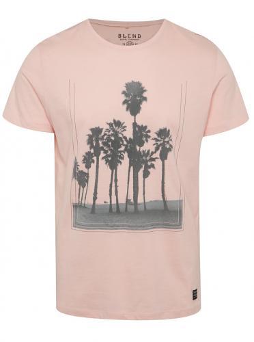 Ružové tričko s potlačou paliem Blend