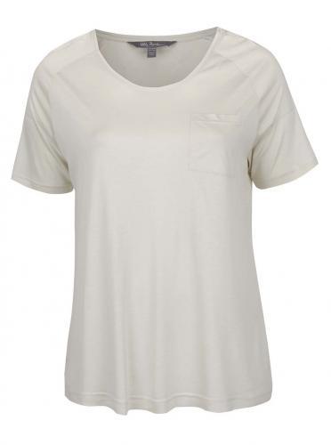 Krémové tričko s vreckom Ulla Popken