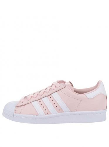 5ae416540fd2 Ružové dámske kožené tenisky na platforme adidas Originals Superstar