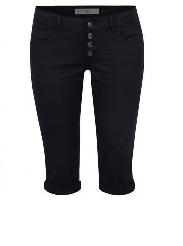 7c5a427174ca Tmavomodré dámske 3 4 slim fit nohavice s nízkym pásom QS by s.Oliver