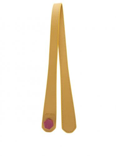 944fe5e14 Žlté dlhé uchá z ekokože pre stredné a veľké kabelky ...