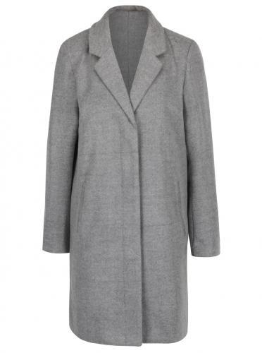 Sivý žíhaný kabát VILA Camdon