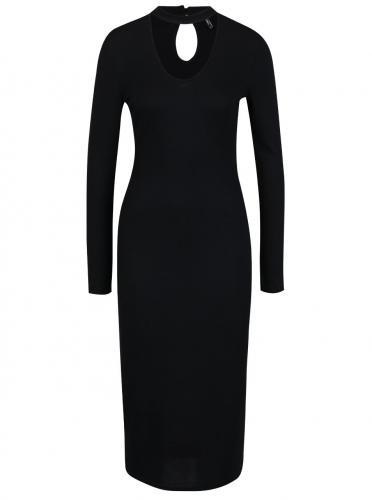 b593e38fbe Čierne šaty s chokerom a dlhým rukávom ONLY Break