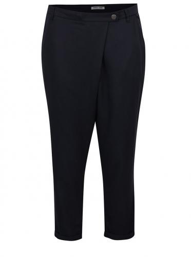 Tmavomodré dámske skrátené nohavice s vysokým pásom Garcia Jeans