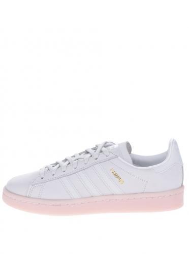 f0298ec3163be Sivé dámske kožené tenisky adidas Originals Campus