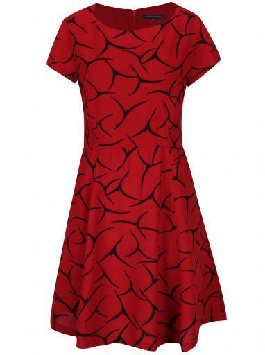 e79c64d58dbf Červené vzorované šaty French Connection Rosalind