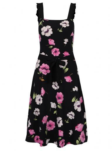 c431f4e1dbbd Čierne kvetované šaty Dorothy Perkins Tall
