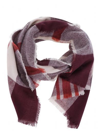 03c7e45493 Béžovo-vínový šál so strapcami ONLY Nora