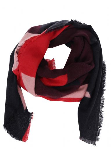 31193b851a Červeno-vínový vzorovaný šál ONLY Nala
