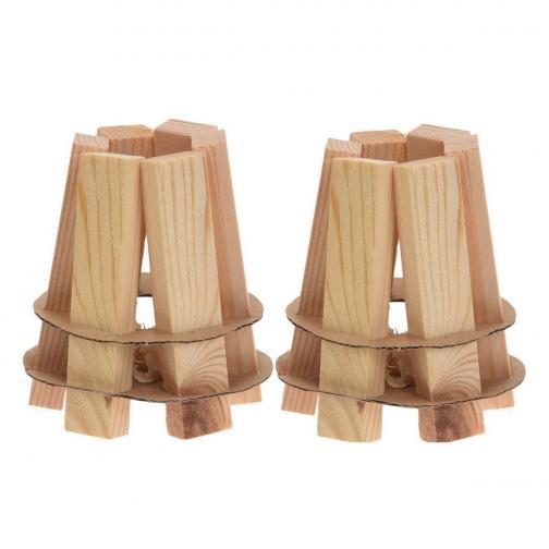 Dřevěný podpalovač, sada 2 ks